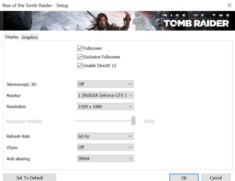 Ryzen 5 vs Core i5 - nastavení Tomb Raider