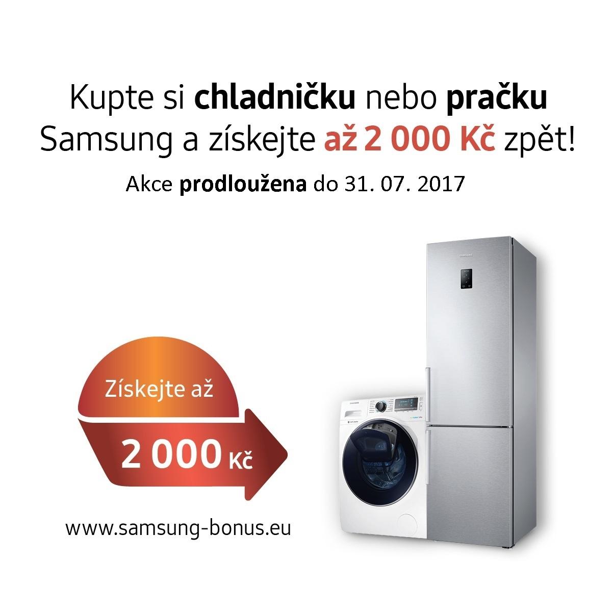 Bonus při koupi pračky nebo ledničky SAMSUNG