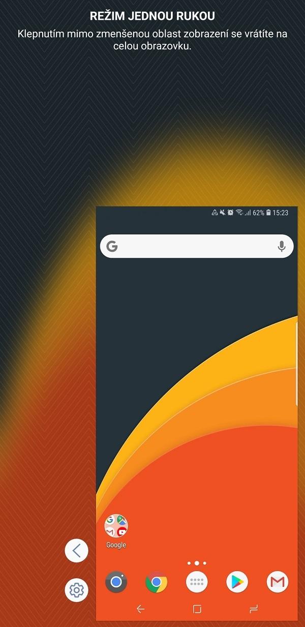 Samsung Galaxy Note9; recenze; režim jednou rukou