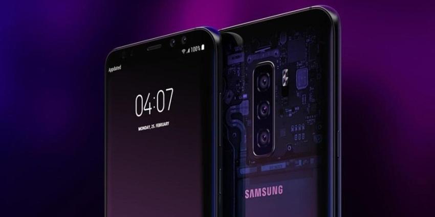 Samsung Galaxy S10 vizualizace zadní strany