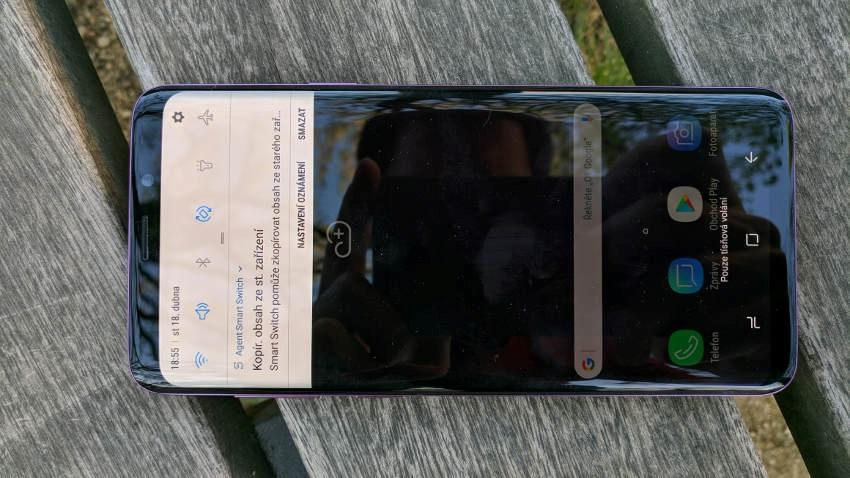 Samsung Galaxy S9+; displej