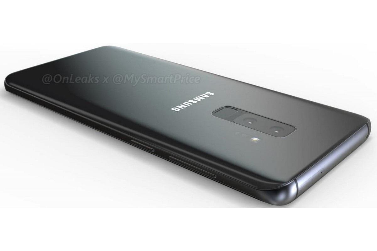 Samsung Galaxy S9, render zadní strany