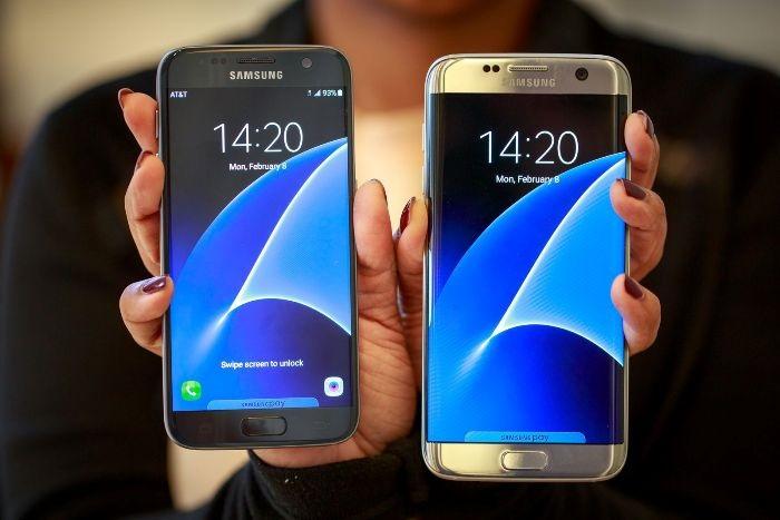 Samsung Galaxy S7 zepředu