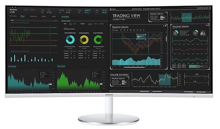 Ultrawide QLED monitor Samsung C34J791