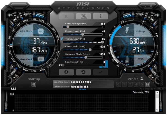 Přetaktování Sapphire Nitro+ RX Vega64 8G HBM2; Afterburner