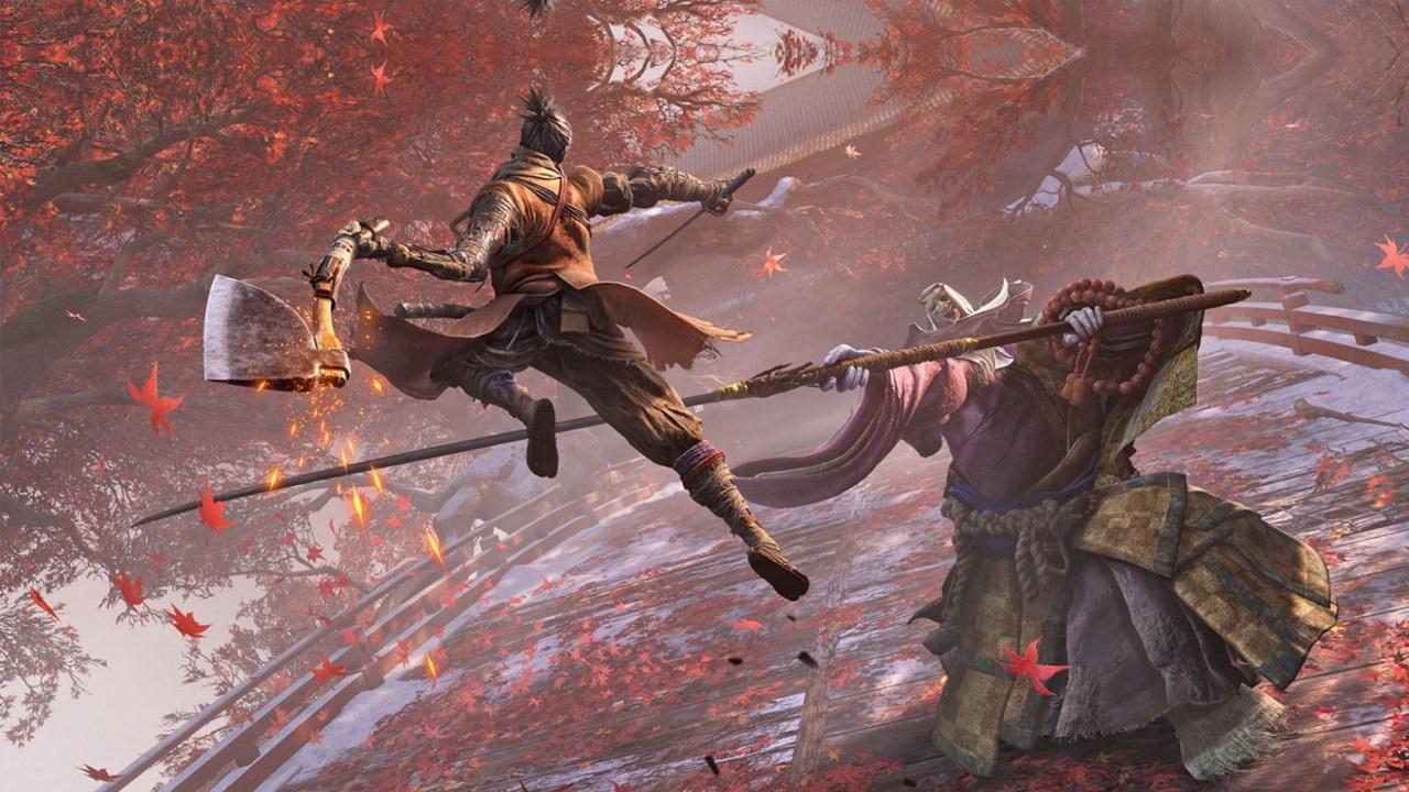 Nejočekávanější hry v roce 2019; Sekiro: Shadows Die Twice, screenshot: boss