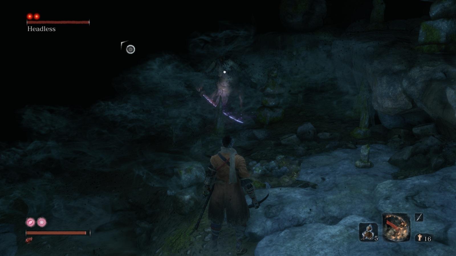 Sekiro: Shadows Die Twice; gameplay: duch