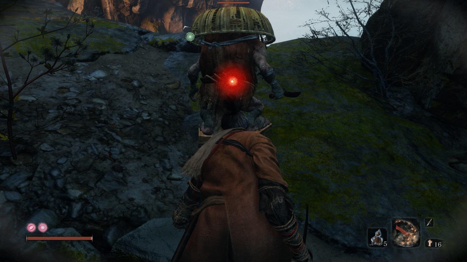 Sekiro: Shadows Die Twice; gameplay: houba