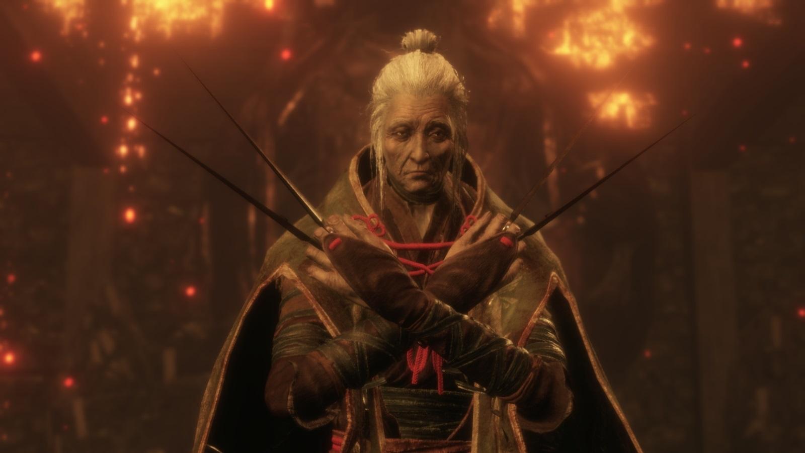 Sekiro: Shadows Die Twice; gameplay: madam butterfly