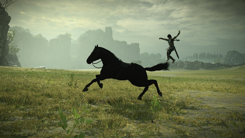 Shadow of the Colossus; Gameplay: Seskok z koně