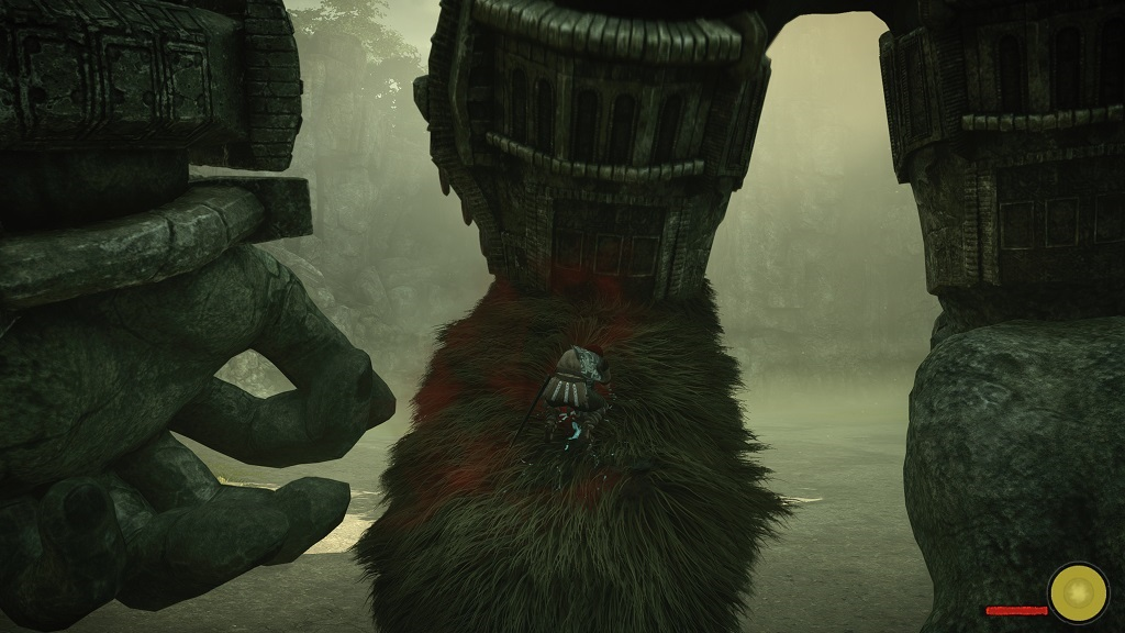 Shadow of the Colossus; Gameplay: zásah, slabé místo
