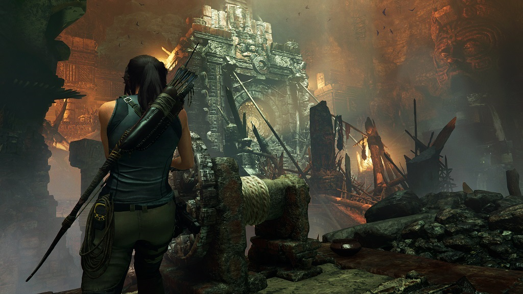 Shadow of the Tomb Raider; screenshot: past, chrám