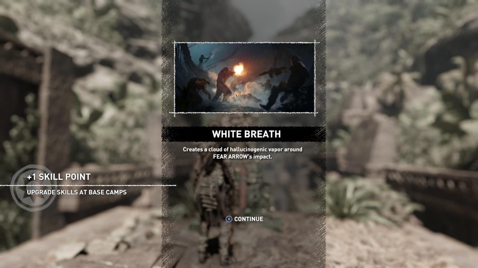 Shadow of the Tomb Raider; screenshot: skill