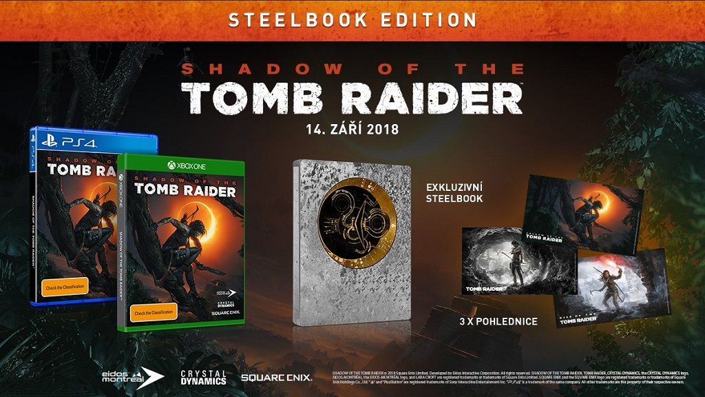 Shadow of the Tomb Raider; Steelbook edice