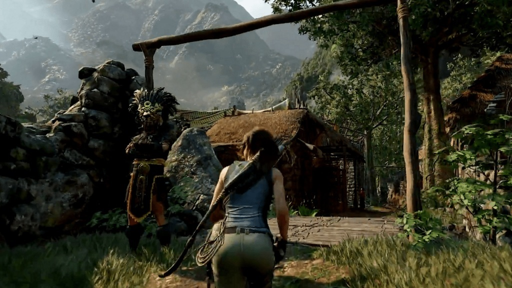 Shadow of the Tomb Raider; screenshot: vesnice Paititi