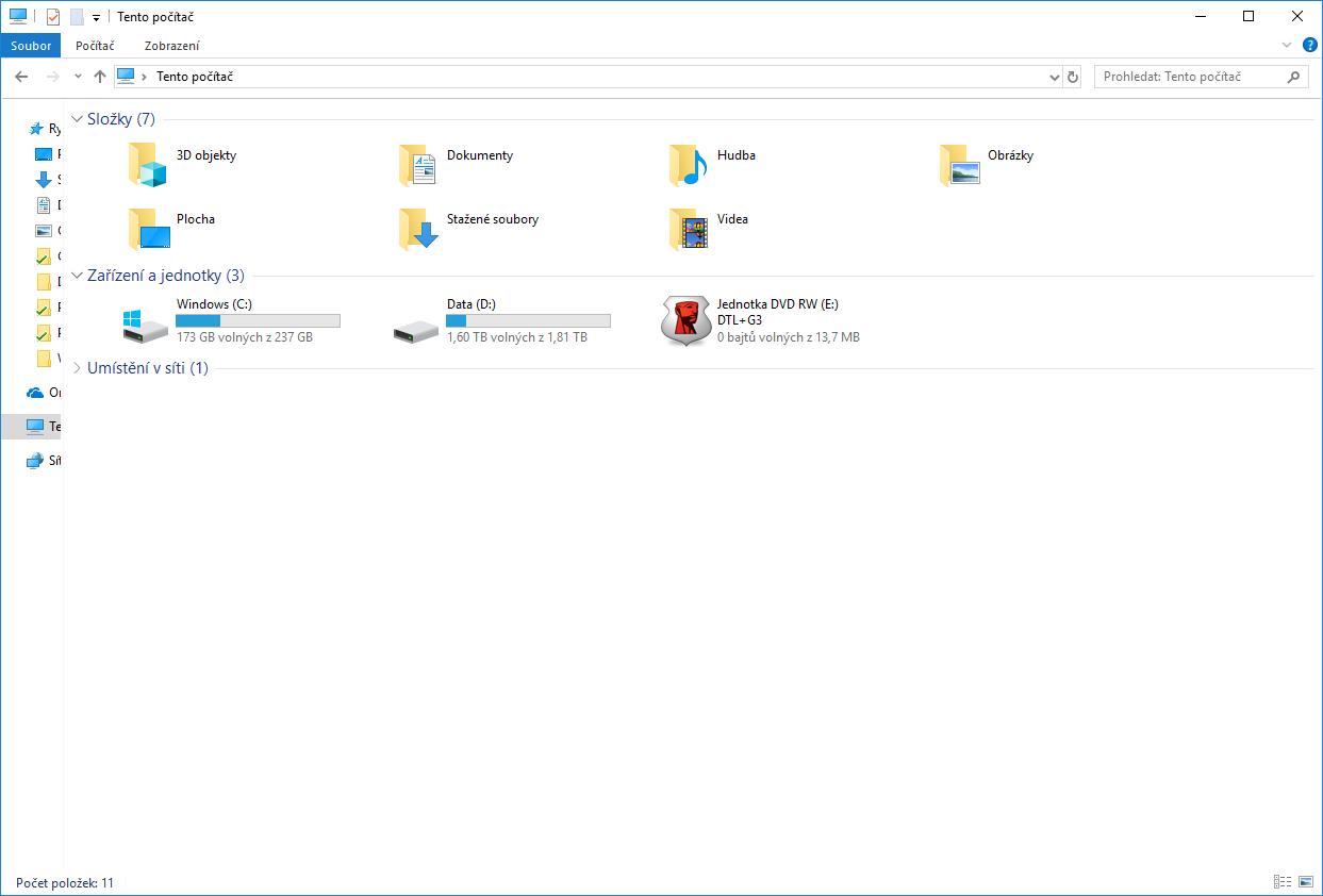 Uzamnčený USB disk.