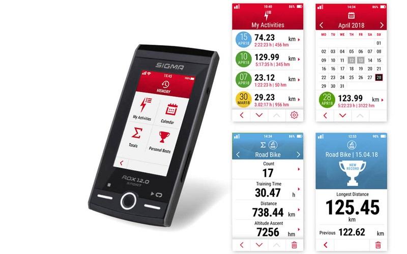 Sigma ROX 12.0; cyklonavigace, sporttestery