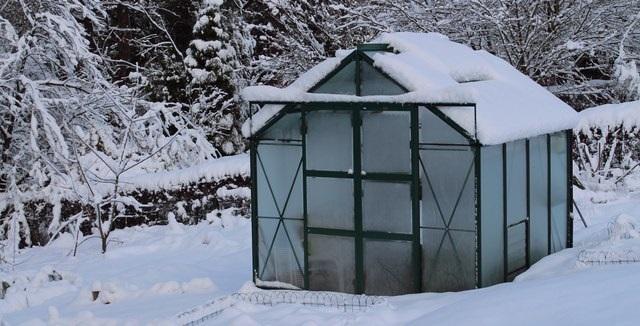 Skleník pod sněhem