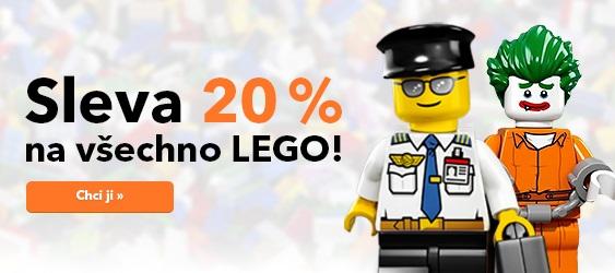 Sleva 20 % na všechny stavebnice LEGO