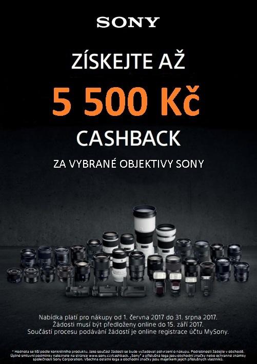 SONY - Cashback na objektivy