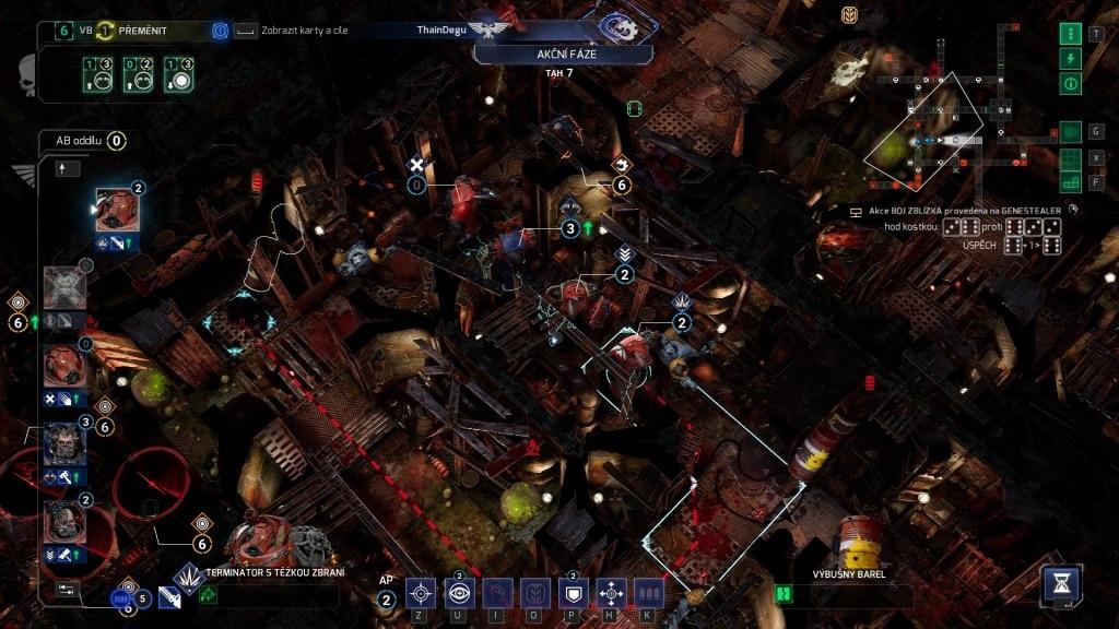 Space Hulk: Tactics; gameplay: formace