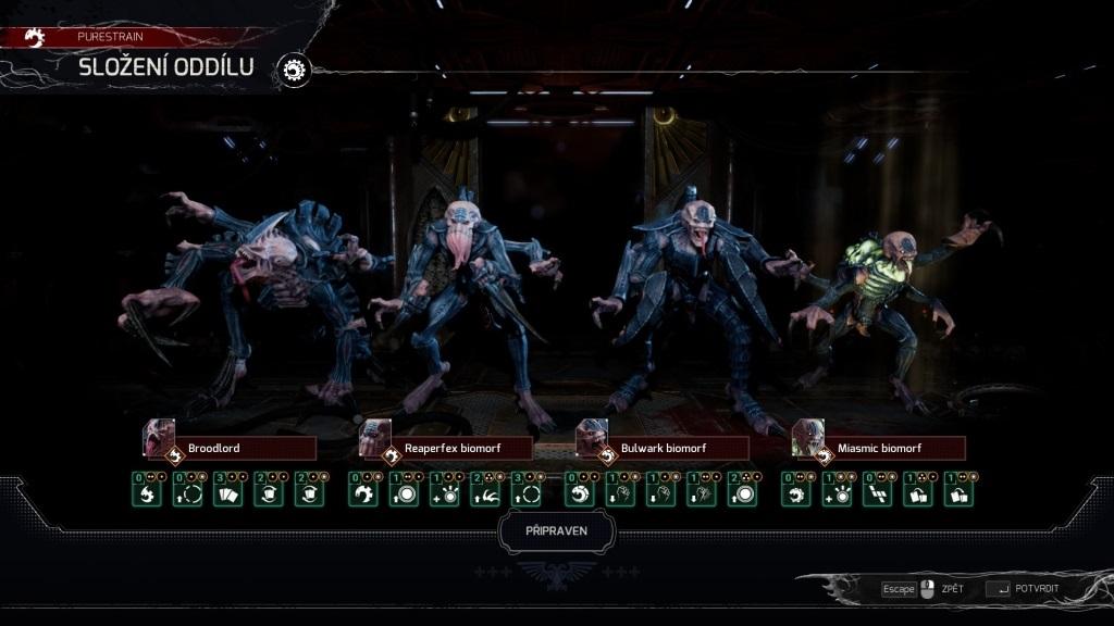 Space Hulk: Tactics; gameplay: Genestealeři