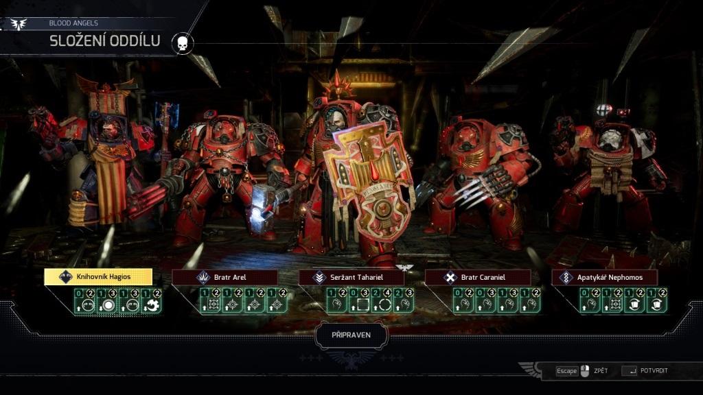 Space Hulk: Tactics; gameplay: mariňáci