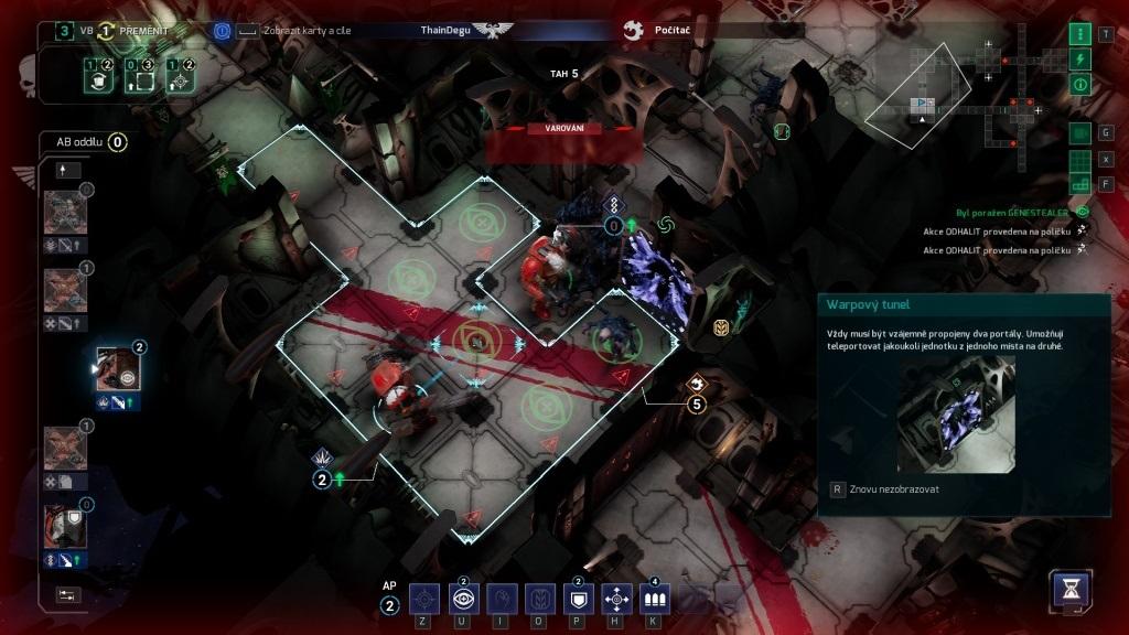 Space Hulk: Tactics; gameplay: portal