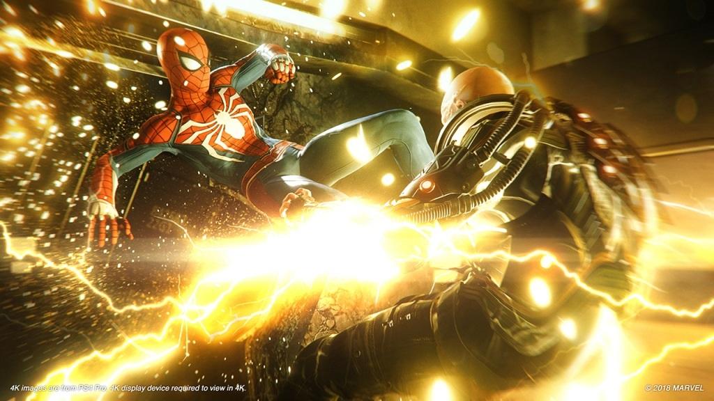 Nejočekávanější hry v září 2018; Spider-Man, screenshot: Electro