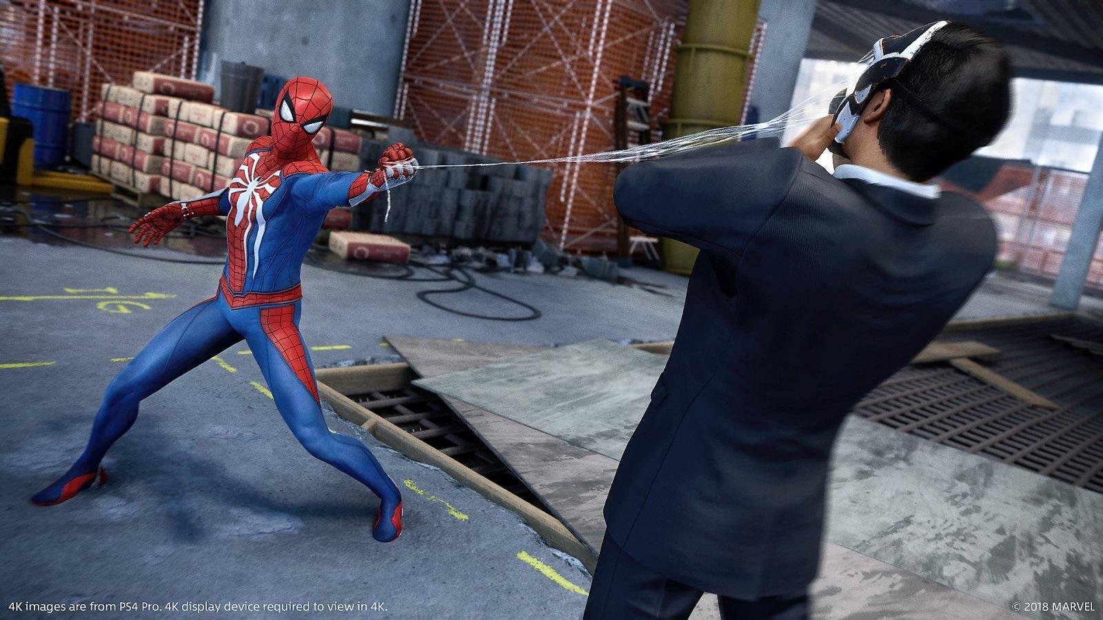 Marvel's Spider-Man; gameplay: fight
