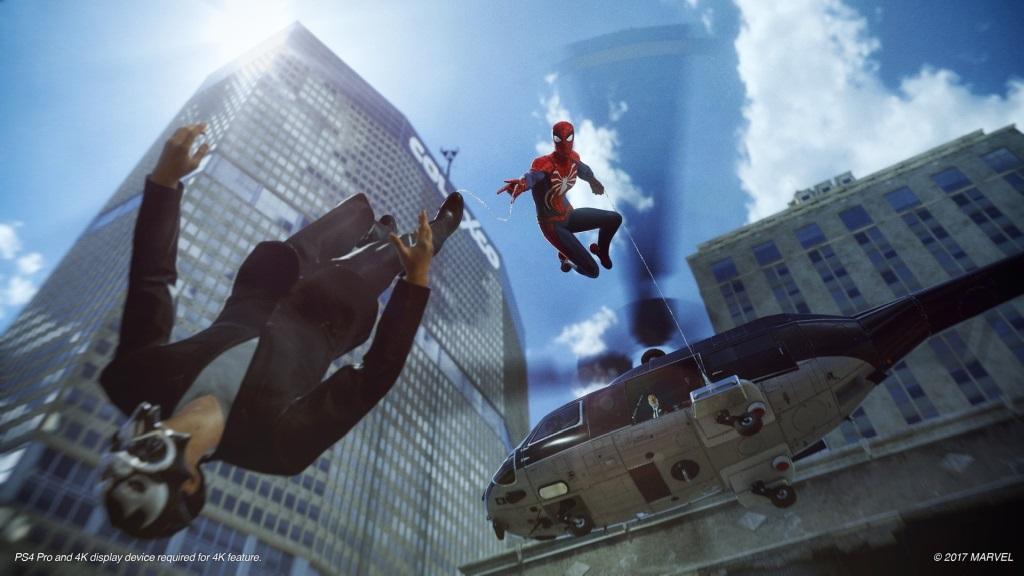 Spider-Man; Wallpaper: skok z helikoptéry, nepřítel