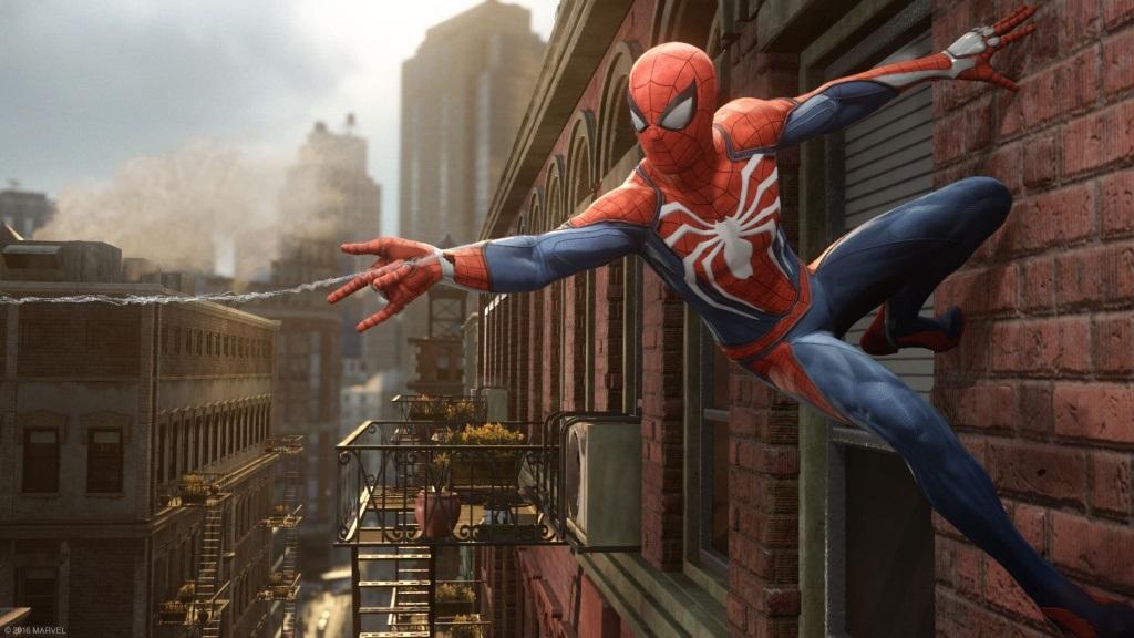 Spider-Man; Wallpaper: New York, šplhání