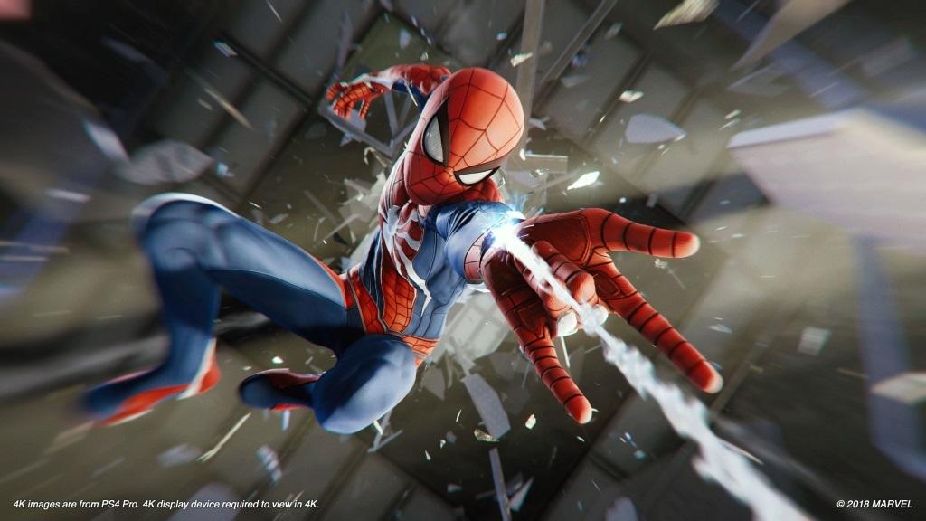 Nejlepší hry; Spider-Man; screenshot: pavučiny