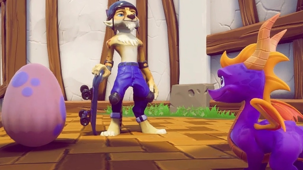 Nejočekávanější hry v listopad 2018; Spyro Reignited Trilogy, screenshot: skateboard