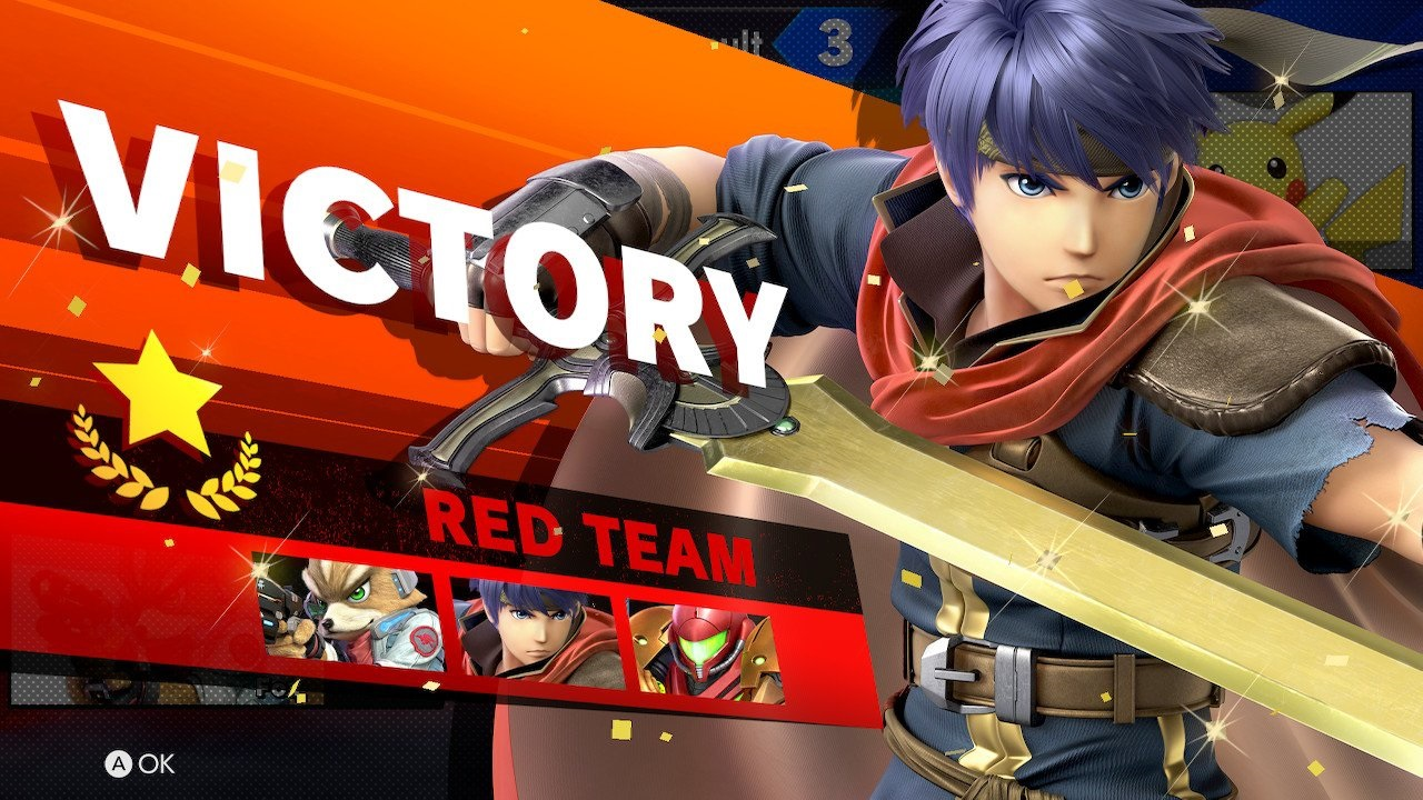 Super Smash Bros. Ultimate; gameplay: victory