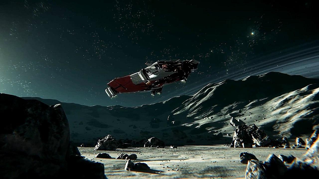 Star Citizen; Wallpaper: vesmírná loď, pioneer, základna