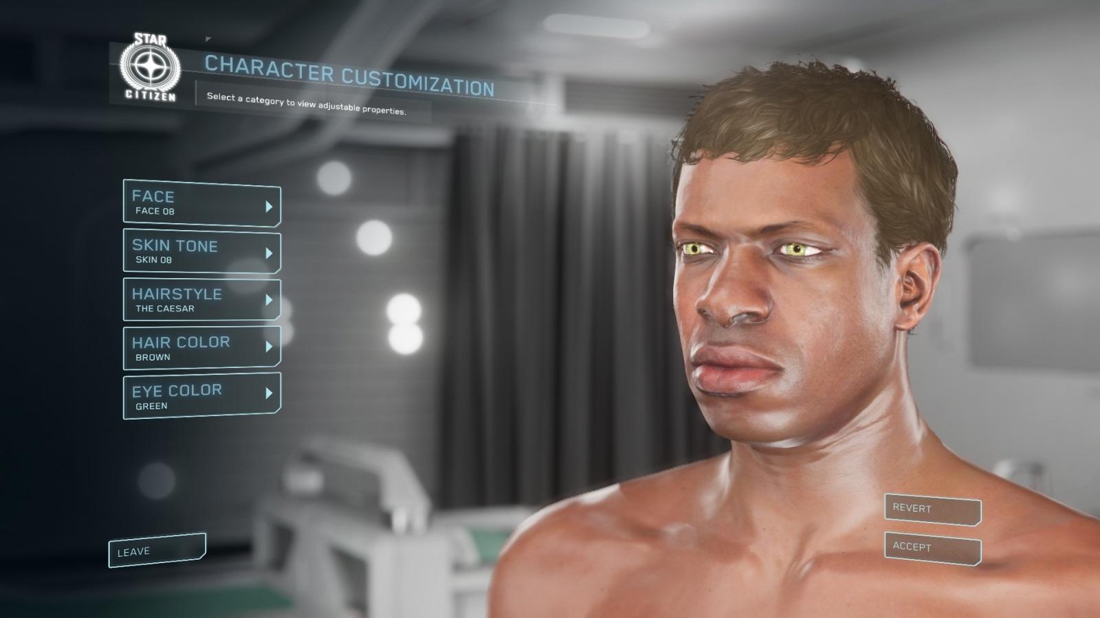 Star Citizen; gameplay: postava