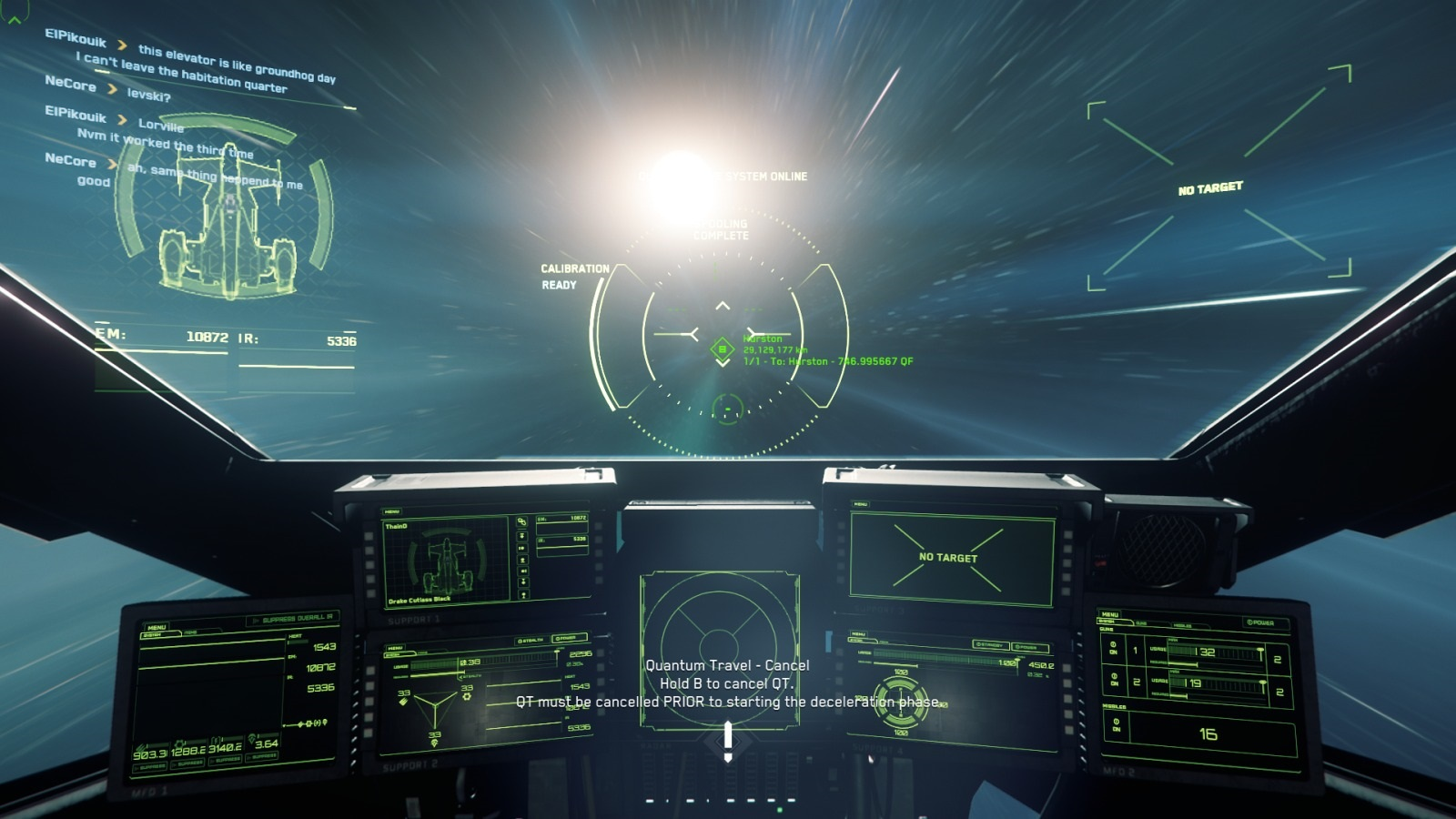 Star Citizen; gameplay: rychlé cestování