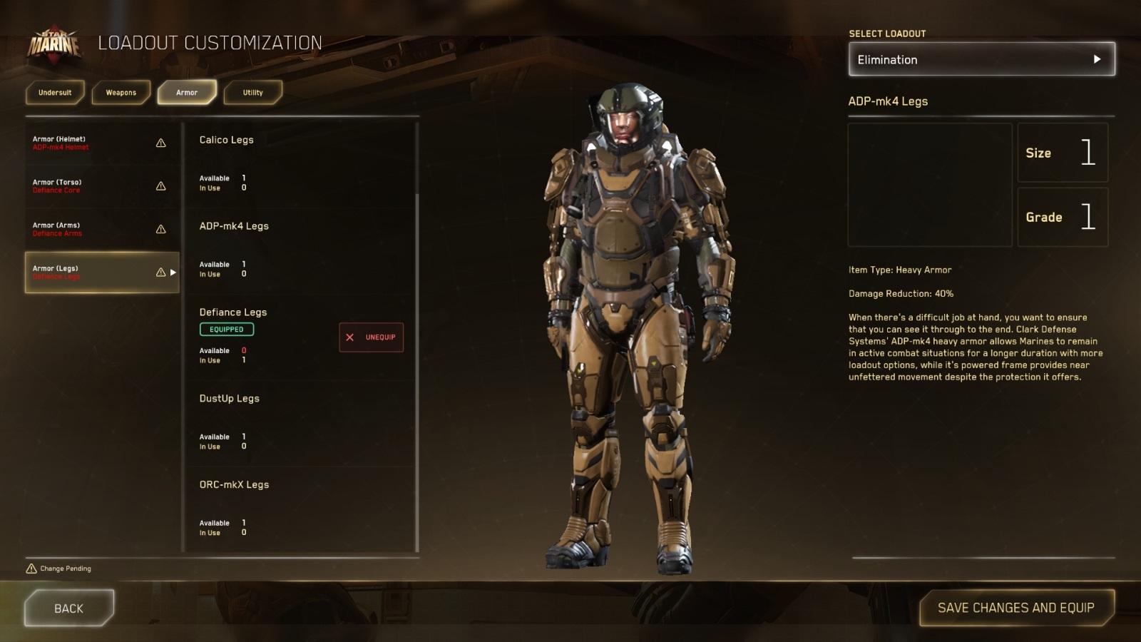 Star Citizen; gameplay: těžká výstroj