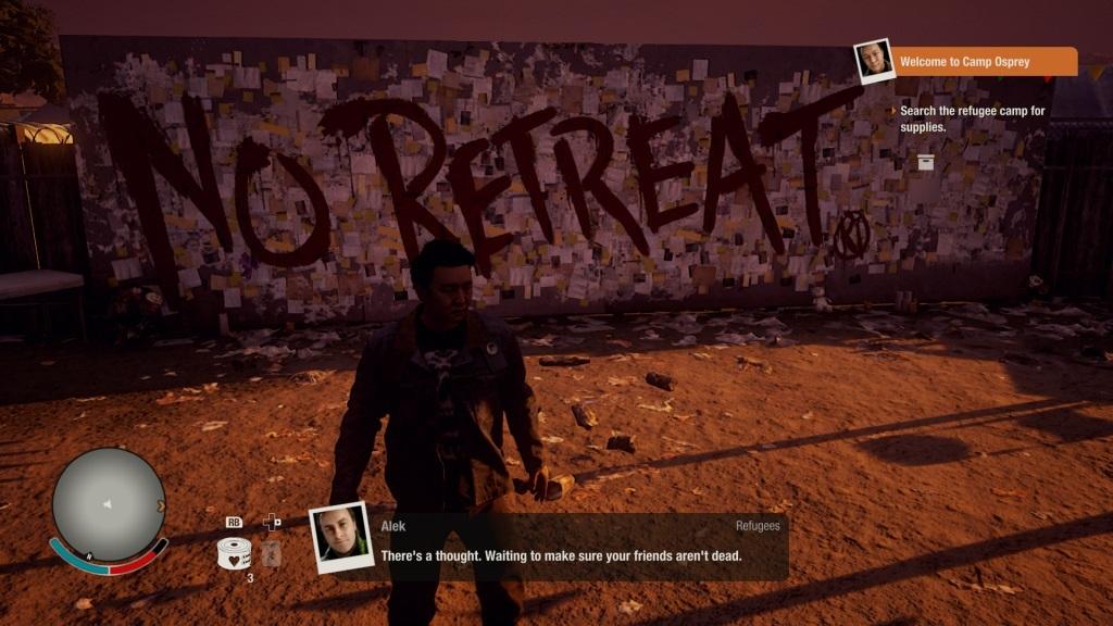 State of Decay 2; gameplay: není cesty zpět