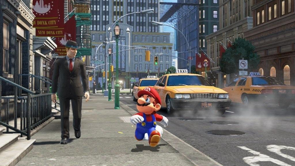 Super Mario Odyssey; New Donk City