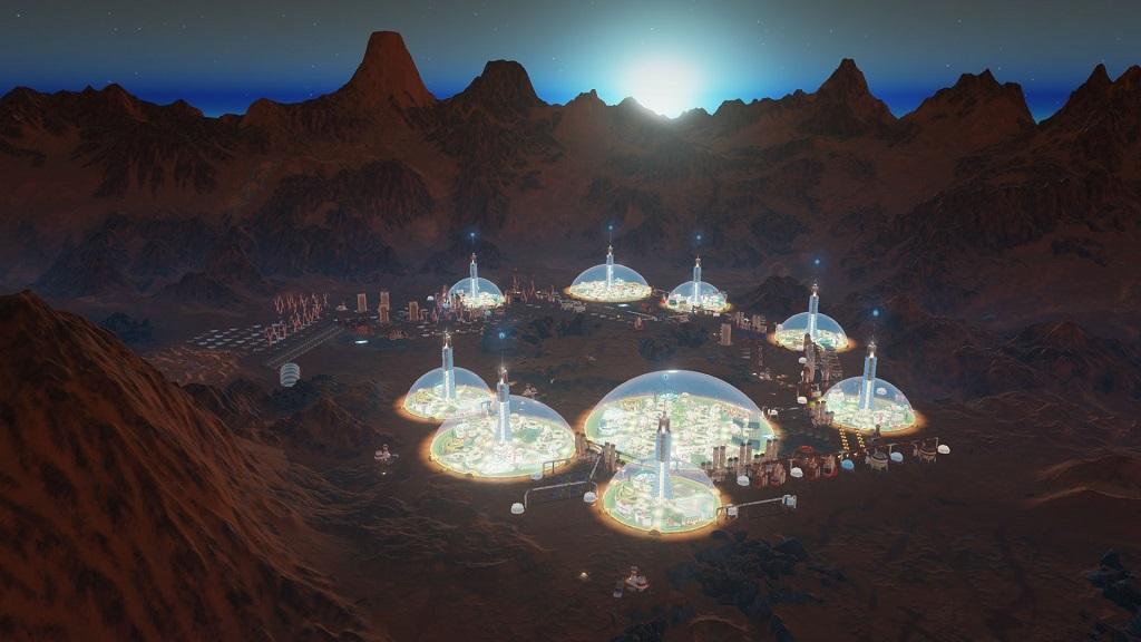 Surviving Mars; night, dawn