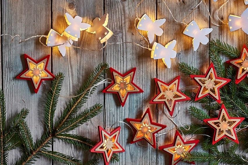 Vánoční osvětlení pro dekoraci interiéru