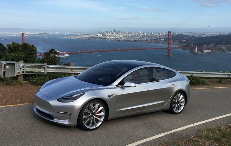Tesla Model 3, elektromobil, design