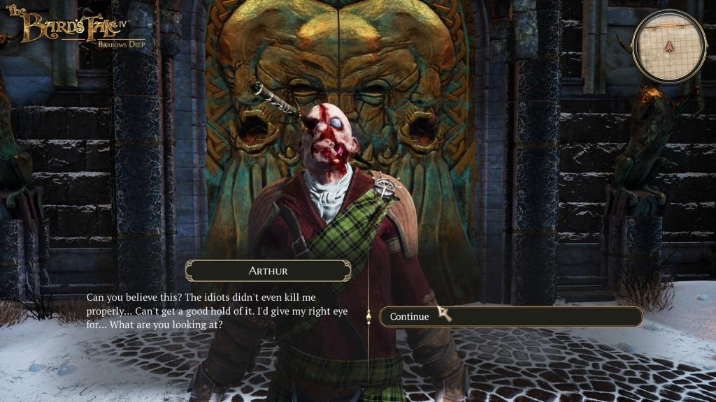 Nejočekávanější hry v září 2018; The Bard's Tale IV, screenshot: dialog