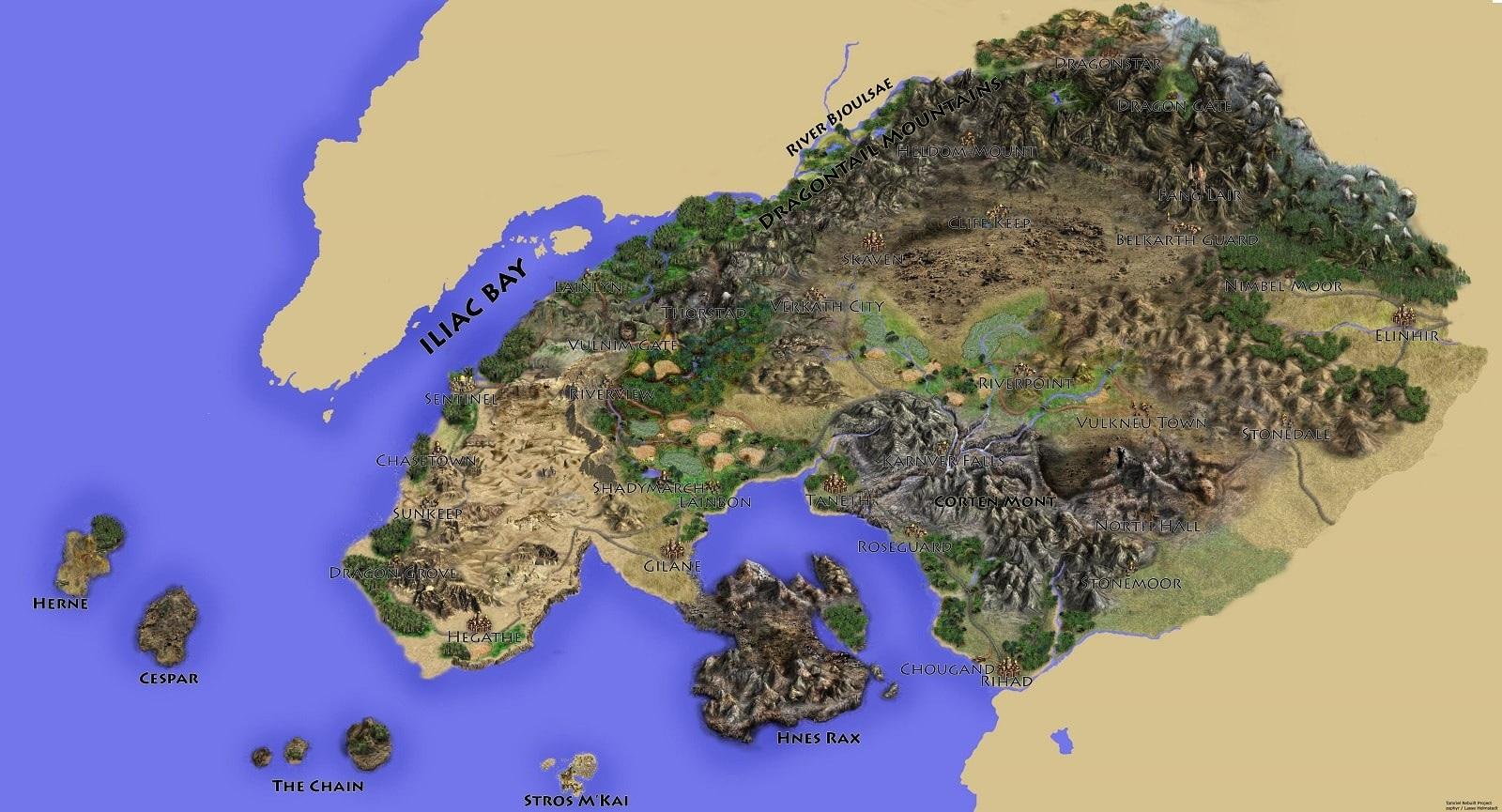 The Elder Scrolls VI, Geografická mapa Hammerfellu