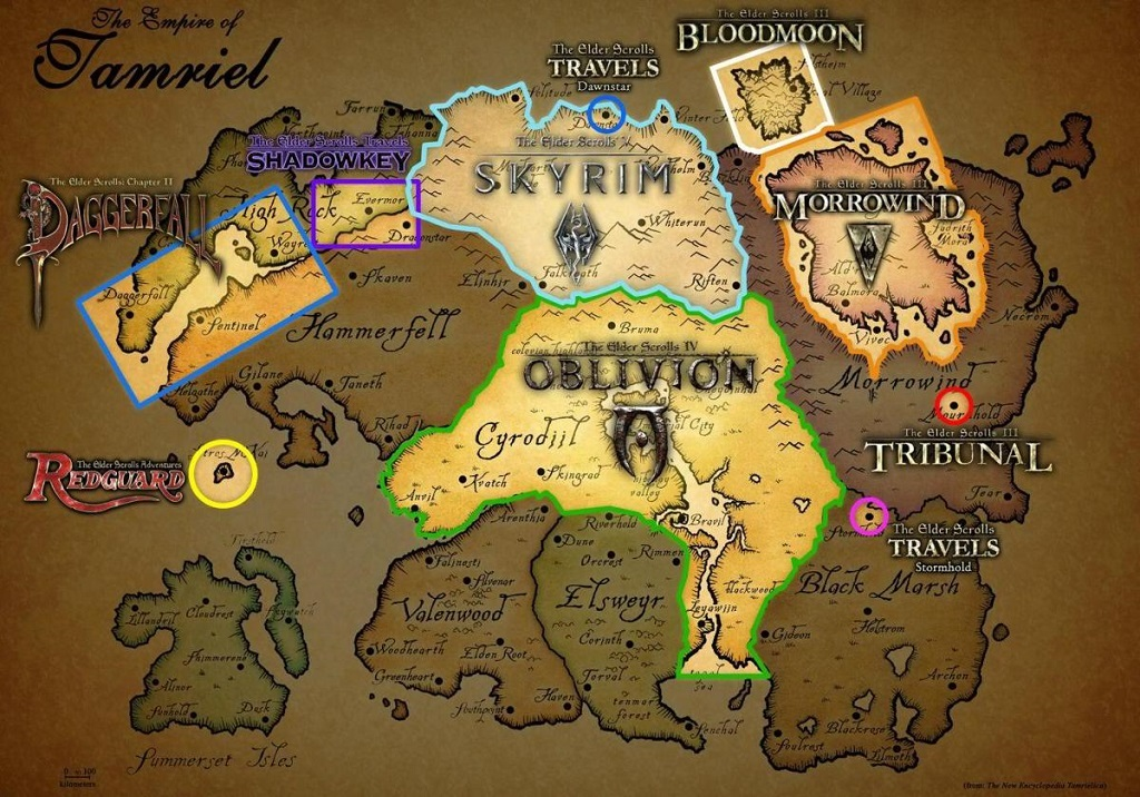 The Elder Scrolls VI, mapa provincií