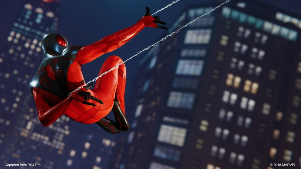 Marvel's Spider-Man: The City That Never Sleeps; screenshot: The Heist – Scarlet Spider