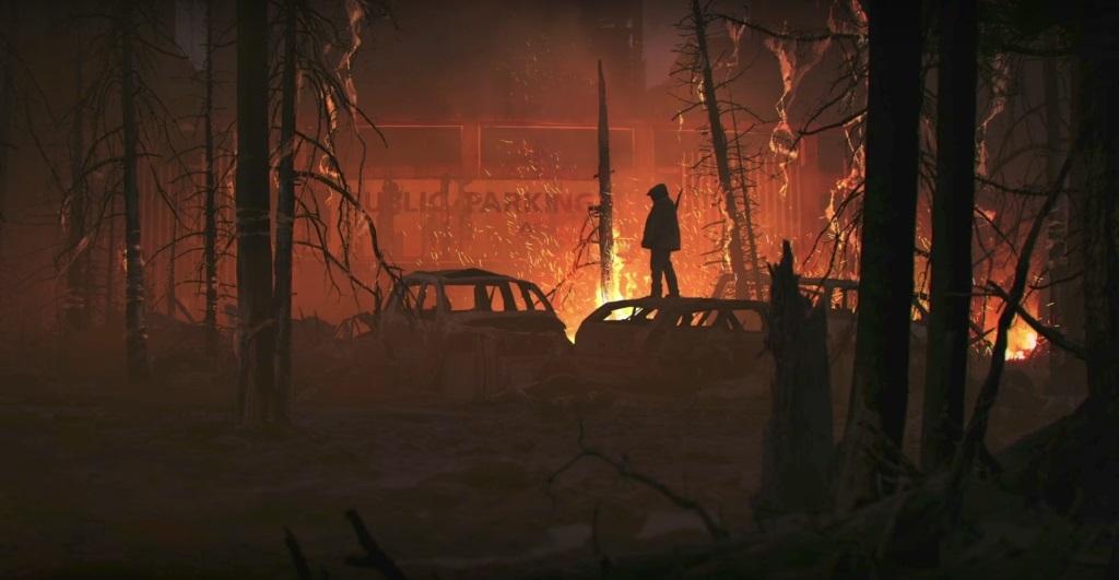 The Last of Us part II; Wallpaper: les, oheň