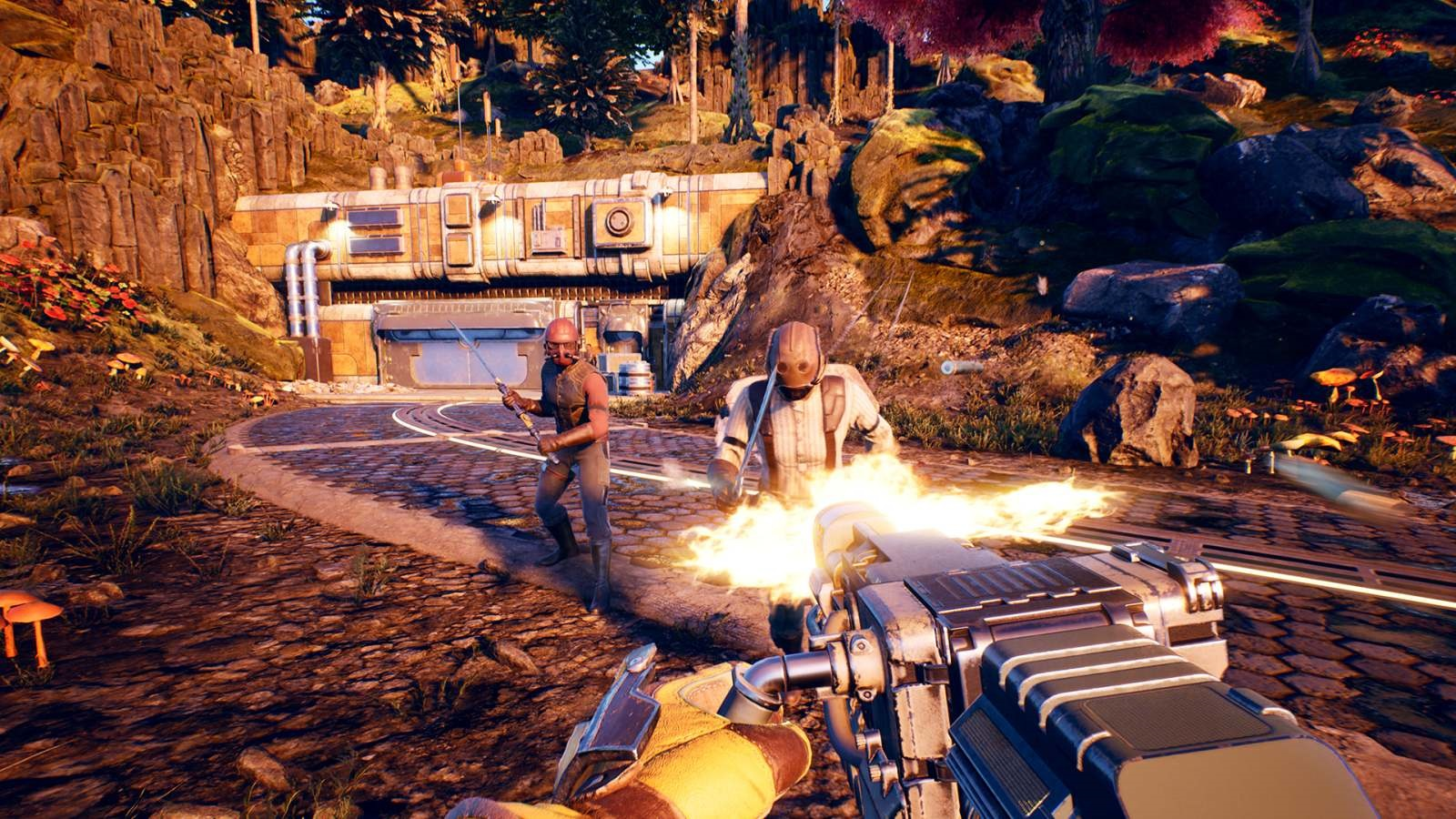Nejočekávanější hry v roce 2019; The Outer Worlds, screenshot: boj